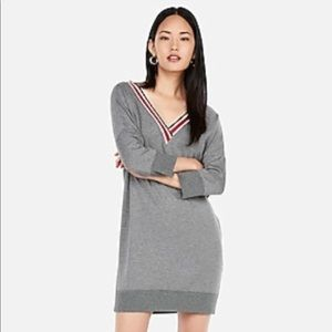 Cute Varsity Dress - Gray